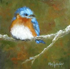 Baby Bluebird by Cheri Wollenberg. Prints available for $15.00, via Etsy.