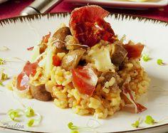 Risotto de champiñones, jamón y queso Idiazabal by Frabisa, via Flickr
