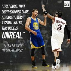 Allen Iverson on Steph Curry Basketball Motivation, Curry Basketball, Basketball Memes, Basketball Pictures, Love And Basketball, Sports Basketball, Sports Pictures, Basketball Players, Basketball Stuff