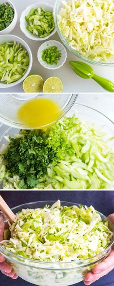 How to make MAYONNAISE-FREE coleslaw salad with a lime dressing, cilantro and a little spice from minced chili peppers. Perfect for warm weather, picnics and outdoor eating!