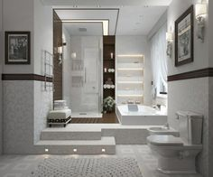bodenbelag bad badleuchten wandregale beleuchtet