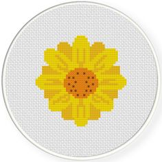 FREE for September 21st 2015 Only - Sunflower And Seeds Cross Stitch Pattern