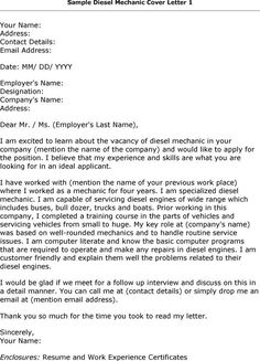 Mechanic Cover Letter Examples | Letter Needs To Be Professional And  Polished, Because If You Donu0027t .