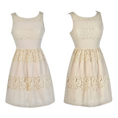 This beige lace A-line dress is a cute option for a rehearsal dinner: http://ss1.us/a/arjg5Fcl