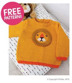 Phildar Lion Jumper Free Pattern | Deramores