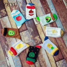 2017 Cotton jacquard Fruit socks Women lovely Striped Avocado food socks Dot point New design Ukraine Kawaii Cute Spring Socks #Affiliate