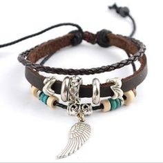 Genuine Leather Charm Bracelet from #YesStyle <3 Trend Cool YesStyle.com
