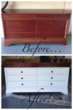 Two Toned Dresser Furniture Refinishingfurniture Makeoverfurniture Projectsbedroom