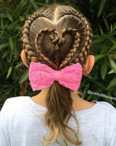 Valentine's Day is about to come so some mothers will be looking for some cute hairstyle for their kids. Every mum tries to make her sweeties looks the best. Whether it's a walk down the