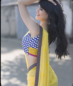 Photo by Saree Love on November Image may contain: one or more people, people standing, outdoor and closeup Beautiful Girl Indian, Beautiful Gorgeous, Beautiful Indian Actress, Beauty Full Girl, Beauty Women, Baby Frocks Party Wear, Sari Blouse Designs, Cute Girl Face, Beautiful Bollywood Actress