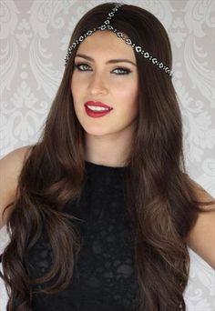 Jet Black & Silver 3 Way Headpiece Hair Jewellery from LullaBellz