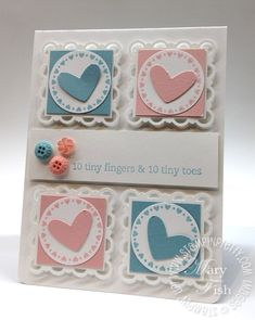 Baby Shower Cards, Baby Cards, Scrapbook Cards, Scrapbooking, Mary Fish, Stampin Pretty, Card Tags, Card Kit, Paper Cards