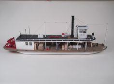 sternwheeler steamboat slide show Scale Model Ships, Scale Models, Wooden Model Boat Kits, Model Ship Building, Steam Boats, Expedition Truck, Model Hobbies, Paddle Boat, Train Tracks