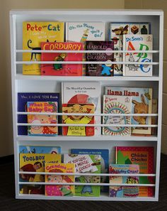 BusyBliss: DIY Children's Bookshelf - with book covers showing