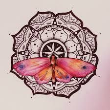 Image result for tattoos mandala butterfly wrists