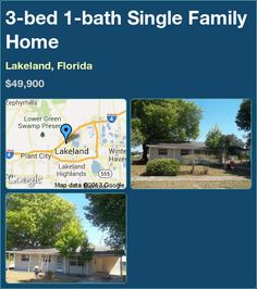 3-bed 1-bath Single Family Home in Lakeland, Florida ►$49,900 #PropertyForSale #RealEstate #Florida http://florida-magic.com/properties/8511-single-family-home-for-sale-in-lakeland-florida-with-3-bedroom-1-bathroom