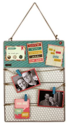 Me & You Hanging Chicken Wire Board by @Crafts Direct