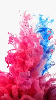 Pink and blue. Collection of Smokey Ink iPhone HD Wallpapers. | @mobile9 #colourful #abstract