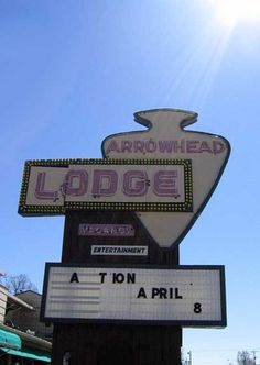 Arrowhead Lodge Sign Lake of the Ozarks, MO by Neato Coolville, via Flickr