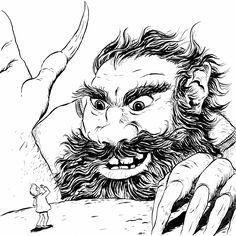 'Gigantic'  Inktober! Nuno Alexandre Vieira #inktober #penandink #ink #blackandwhite #blueandwhite #monochrome #childrensbook #illustration #kidlit #kidlitart #kidlitartist #kidsbooks #booksforkids #raiseareader #sharestories #books #read #teaching #resources #learning #teacher #art #illustrator #bookstagram #instaart #draw #sketch #sketchbook #nunoalexandrevieira