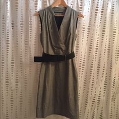 Zara dress Final  Price**** 64% polyester 33%viscose 3%elastine. LINING( 100% polyester)Sleeveless Can be casual / formal / work dress/ v neck. Zara Dresses