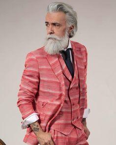 #italian #beard #barba #bearded #beardoil #dandy #dandystyle #alessandromanfredini #cool #model #king #style #mustache #grey #follow4follow #followforfollow #love #karlmommoo
