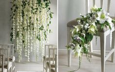 Flower Backdrop For Rustic Wedding