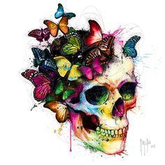 Patrice Murciano, Les couleurs de l´âme II Schädel. - Patrice Murciano, Les couleurs de l´âme II Schädel. Murciano Art, Patrice Murciano, Tatto Skull, Totenkopf Tattoos, Skull Artwork, Skull Painting, Diy Painting, Sugar Skull Art, Sugar Skulls