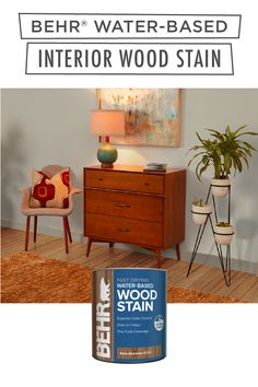 Give your interior wooden furniture a fresh new makeover with help from BEHR® Water-Based Interior Wood Stain. Used for horizontal and vertical surfaces, this product reduces drips and runs, and has one-coat coverage. Available in select stores. Click below to learn more.