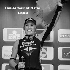 Congratulations to Ellen Van Dijk of the Boels Dolmans Cycling Team who today won stage 2 of the Ladies Tour of Qatar. She now leads the overall classification heading into stage 3 tomorrow! (Photo from cycling news. Photo credit © Tim de Waele/TDWSport.com)  #cyclelikeagirl to share your stories and follow @cyclelikeagirl to promote women's cycling together .  #ladiestourofqatar #ellenvandijk