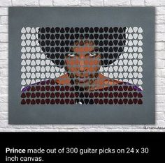 Prince art made out of guitar picks