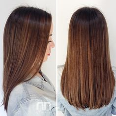 . Brown Hair Balayage, Hair Highlights, Ombre Hair, Short Hair Styles For Round Faces, Long Hair Styles, Hair Cut Lengths, U Shaped Hair, Haircuts Straight Hair, Hair Color And Cut