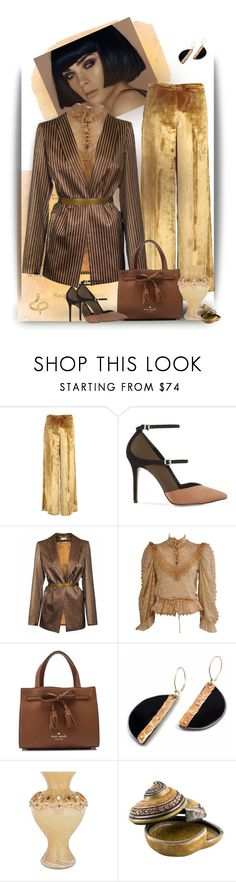 """""""Gold Brown Jacket"""" by gagenna ❤ liked on Polyvore featuring Forte Forte, Reiss, JIRI KALFAR, Kate Spade and Madina Visconti di Modrone"""
