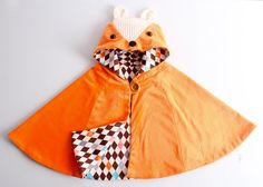 Kid's sewing pattern pdf/ fox cape/ fox manteau/kids costume/halloween costume /children clothing/2T-6Years by hellodearkids on Etsy https://www.etsy.com/listing/205873236/kids-sewing-pattern-pdf-fox-cape-fox