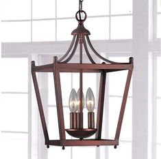 Antique Copper Mini Lantern Chandelier Hanging Light Fixture Ceiling Pendant New Product Description: Perfect for any home decor with an old-world motif, this lantern style 4 light Antique Copper Mini Chandelier is styled like a street lanter...