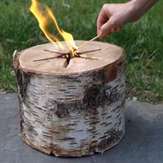 Light n' Go Bonfire Log. This is so neat. It can be used inside in fireplace or outside in fire pit, chimnea, etc. Can't wait to use it at the beach!