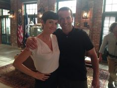 NCIS: New Orleans Behind The Scenes with Agents Brody and LaSalle (Zoe and Lucas)