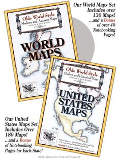 Chatter, Clatter, and Things That Matter: Review: Home School in the Woods Map Sets