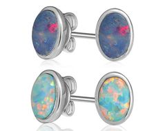 Grab a pair of Australian opal earrings for $34 from Neverland Sales, including nationwide delivery.  Enjoy the natural beauty of these unique gemstones.  Love how the colours shift in different lights.