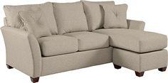 Eden Sofa & Ottoman W/ Chaise Cushion by La-Z-Boy Taupe C106962