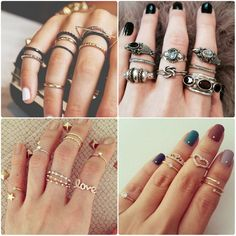 By creating your own ring you are usually reducing the expense of the rings. You see most rings are developed by some famous wedding ring designer and the rate is based upon the appeal of the designer. Jewelry Trends, Jewelry Accessories, Fashion Accessories, Fashion Rings, Fashion Jewelry, Skinny Rings, Princess Jewelry, Nail Ring, Ring Necklace