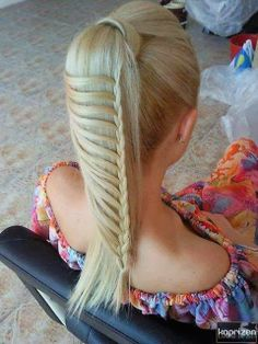 Gorgeous ladder style hair braid for Ladies