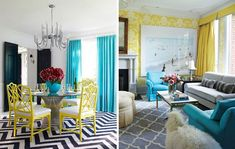 Some yellow color combos that speak to the contemporary.