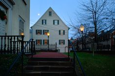 1741 Gemeinhaus from steps of Central Moravian Church