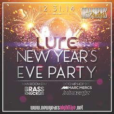 Lure invites you to experience this NYE with a supercharged, supersize party packed with glitz, amenities, and L.A.'s high-flying nightlife in-crowd. Jump start the mega-festivities with a 5 hour premium open bar over multiple full-service bars. Experience the best of both EDM and Hip Hop at Lure – home of the notorious 'Luresday', 'Toxic' and 'The Do Over' parties – whose massive main room will feature the world-famous DJ group, Brass Knuckles, while the patio-slash-voltaic outdoor…