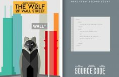Literal Movie Posters Delhi-based artist Danish Ahmed reimagined movie posters in a literal way. Wolf Of Wall Street, Logo Design, Graphic Design, Danish, Illustrations, Concept Art, Layouts, Movies, Movie Posters