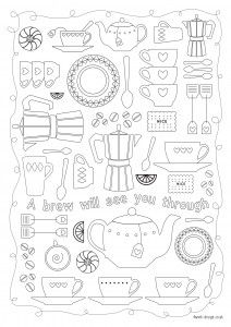 Free printable adult colouring pages for the New Year | Daisies & Pie