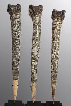 Abelam Cassowary Bone Daggers / Abelam, Papua New Guinea, Sepik River Region