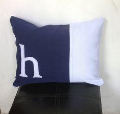 Monogram Lumbar, Monogram Lumbar Pillows, Nursery Gift, Baby Shower Gift, Bedroom Pillow Cover, Lumbar Pillow Cover 12x16,