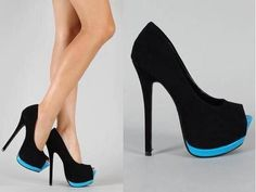 When blue is actually happy! #heels #love #fashion #platforms